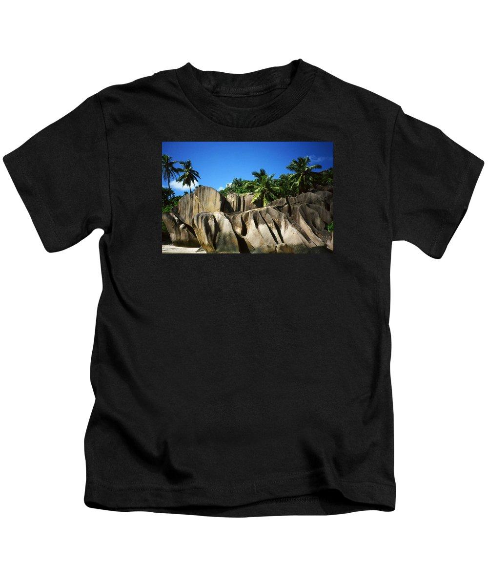 Ocean Kids T-Shirt featuring the photograph La Digue Island - Seychelles by Juergen Weiss