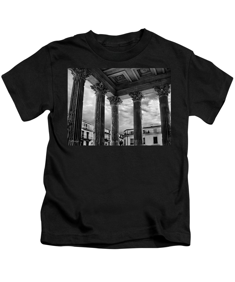 La Maison Kids T-Shirt featuring the photograph La Maison Caree.nimes.france by Jennie Breeze