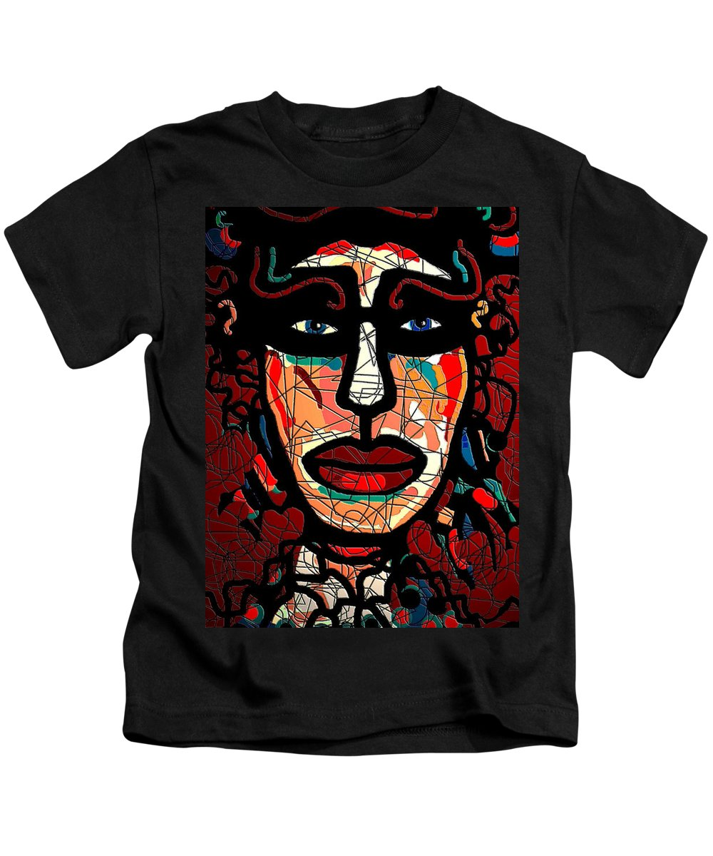 La Matadora Kids T-Shirt featuring the mixed media La Matadora by Natalie Holland