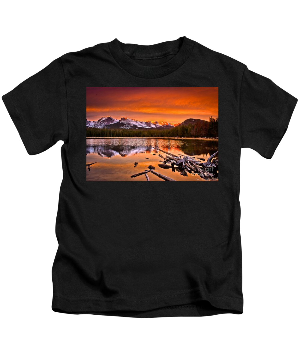 Landscape Bierstadt Kids T-Shirt featuring the photograph Lake Bierstadt In The Morn by Steven Reed