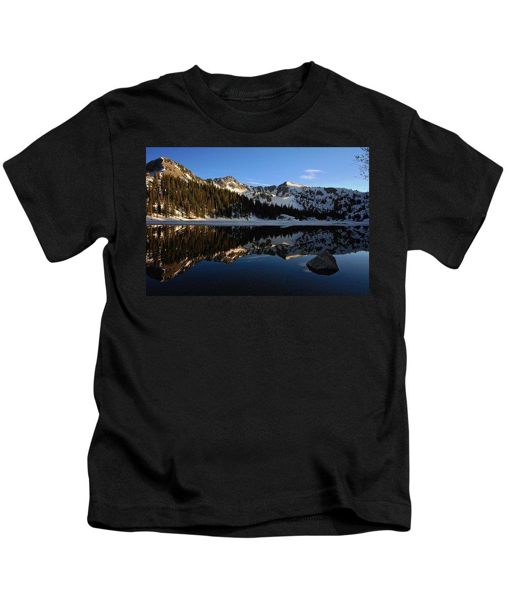 Lake Mary Brighton Utah Kids T-Shirt featuring the photograph Lake Mary Brighton Utah by Richard Cheski