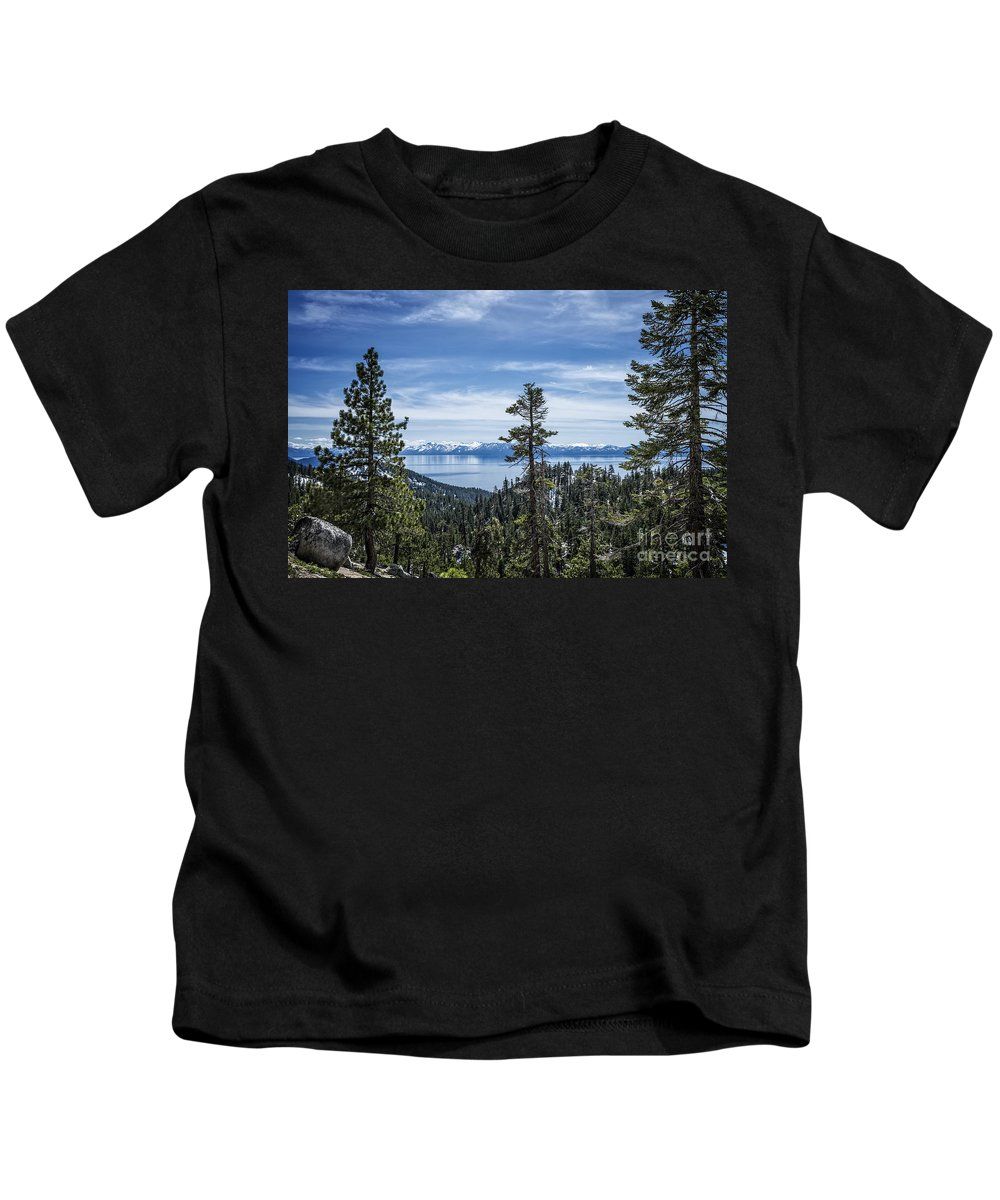 Lake Kids T-Shirt featuring the photograph Lake Tahoe by Dianne Phelps