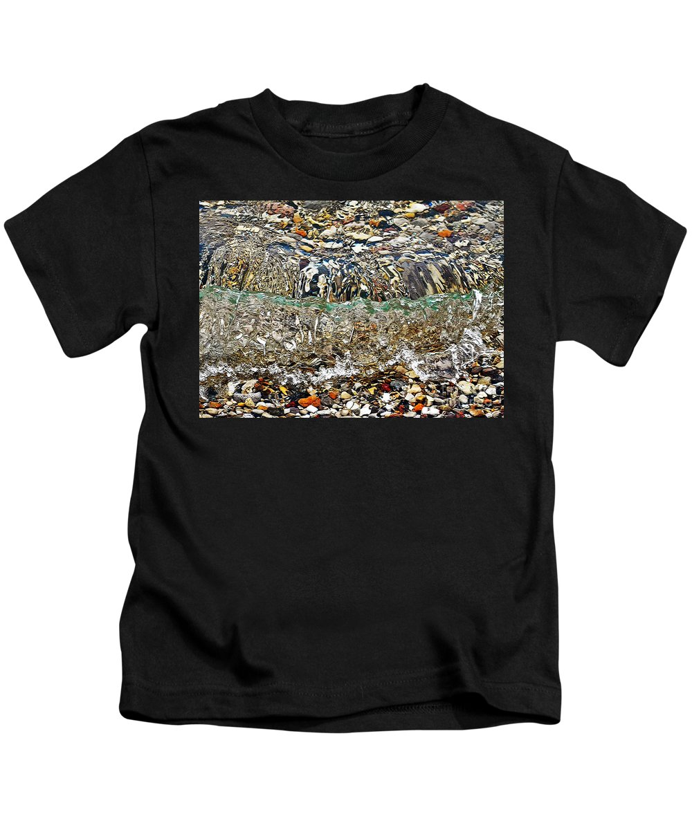 Lakeshore Rocks Kids T-Shirt featuring the photograph Lakeshore Rocks by Lydia Holly