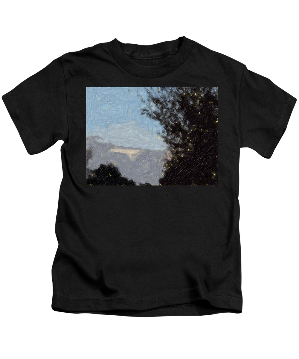 Landscape Kids T-Shirt featuring the painting Landscape Of Fall by Sergey Bezhinets