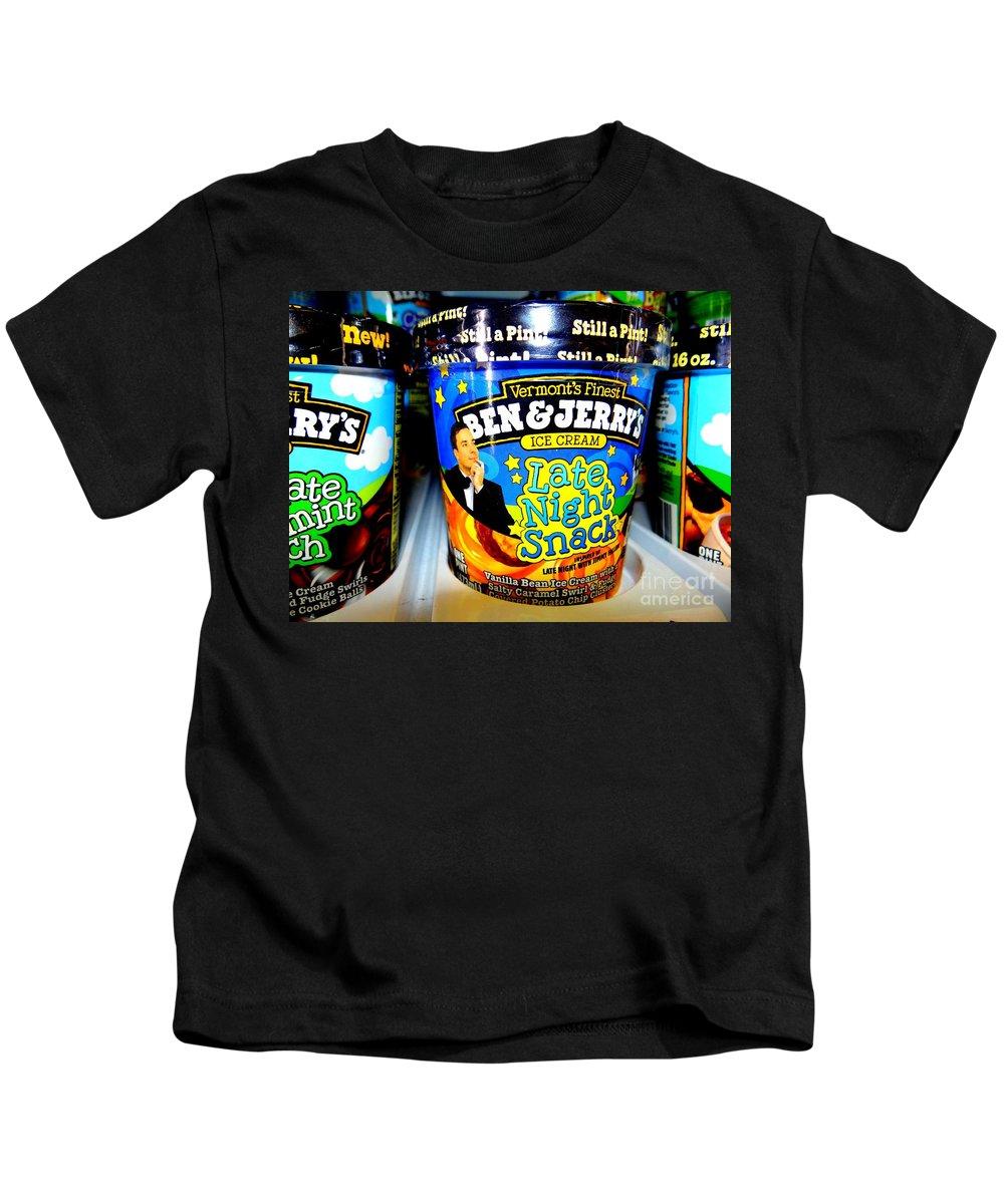 Pop Art Kids T-Shirt featuring the photograph Late Night Snack by Ed Weidman