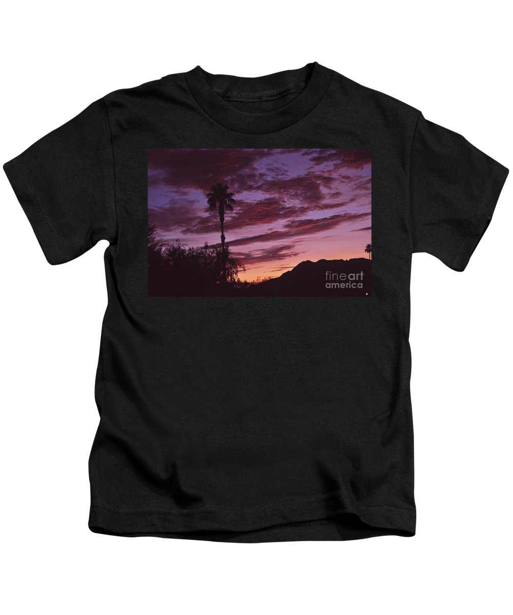 Lavender Kids T-Shirt featuring the photograph Lavender Red And Gold Sunrise by Jay Milo
