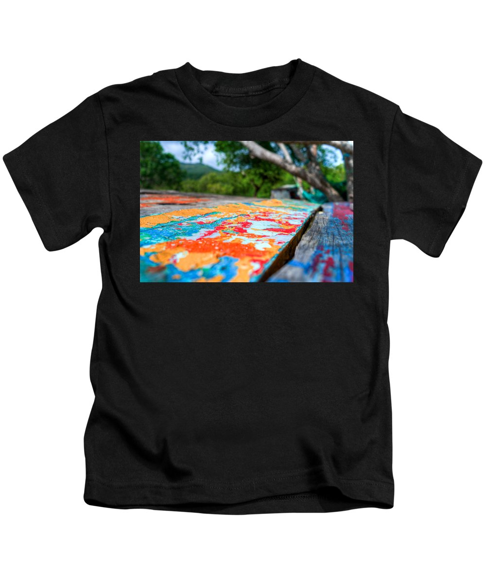 Colors Kids T-Shirt featuring the photograph Layered by Ferry Zievinger
