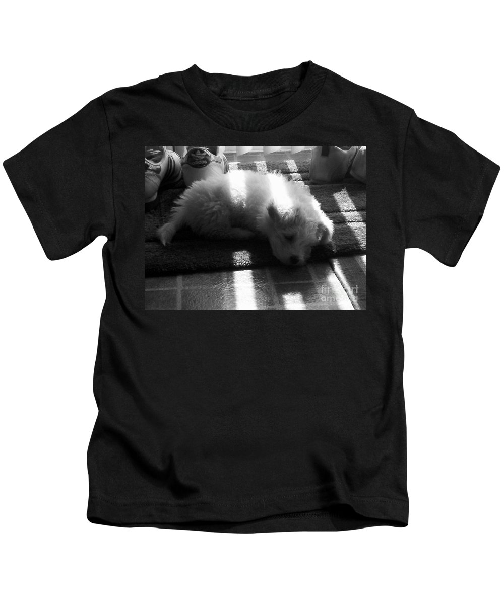 Puppy Kids T-Shirt featuring the photograph Lazy Days by Michael Krek