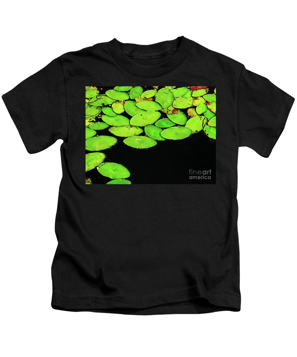 Swamp Kids T-Shirt featuring the photograph Leafy Swamp by Ann Horn