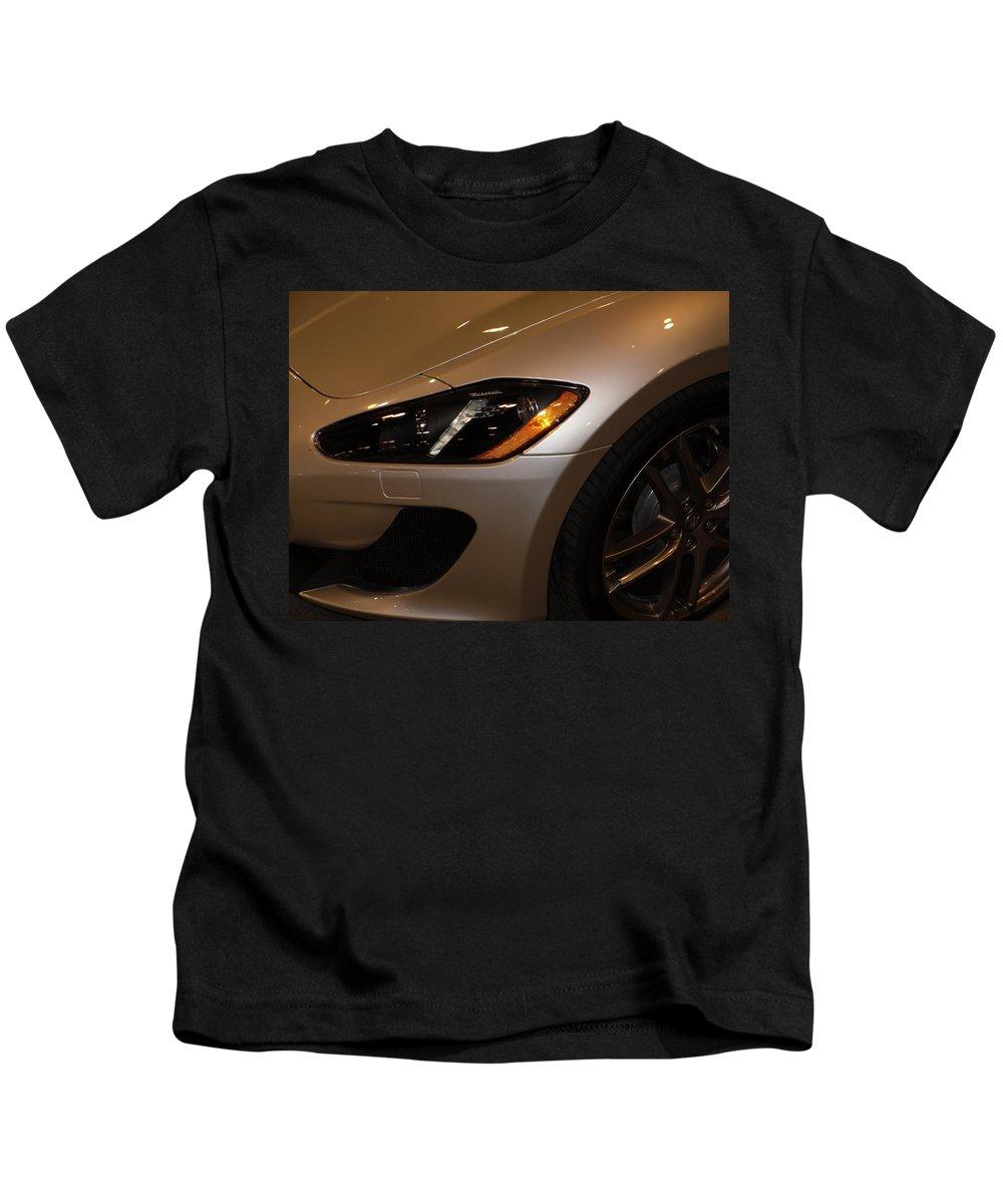 Maserati Kids T-Shirt featuring the photograph Left Turn by Joe Hamilton