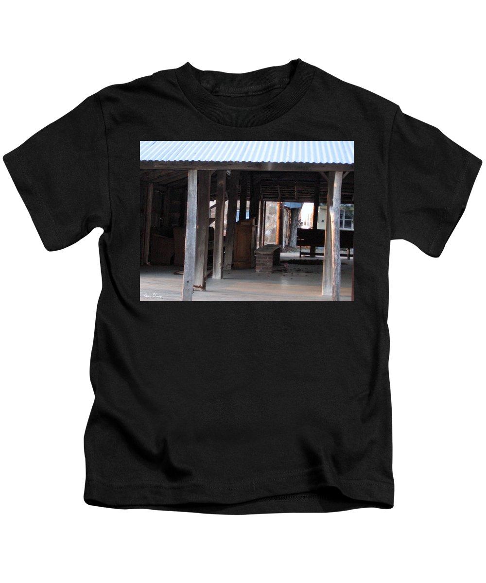 Illinois Bend Methodist Church Kids T-Shirt featuring the photograph Leftover Pulpit Illinois Bend Methodist Church by Amy Hosp