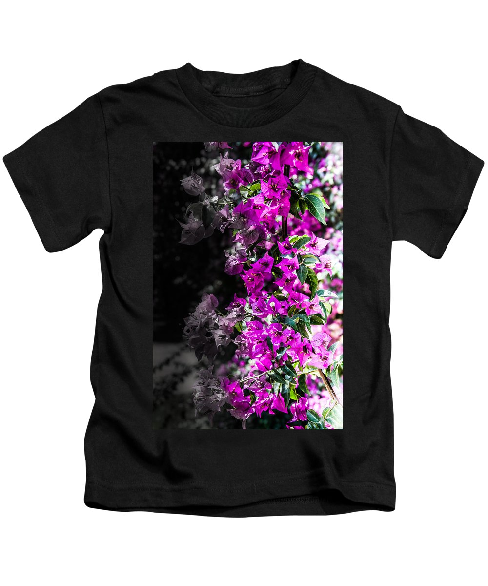 Purple Life Kids T-Shirt featuring the photograph Life And Death by Sotiris Filippou