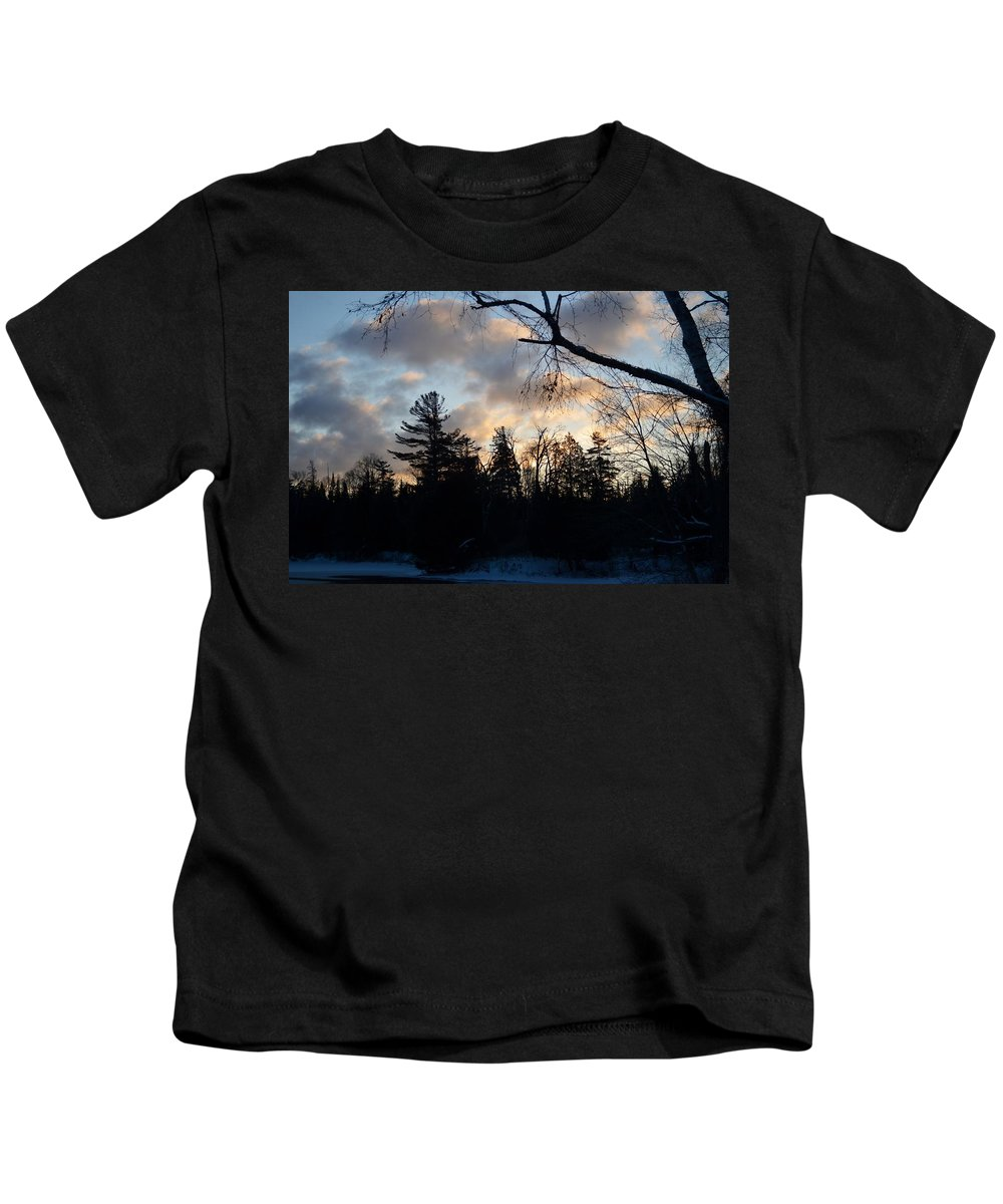 Tree Line Kids T-Shirt featuring the photograph Light Coming by Thomas Phillips