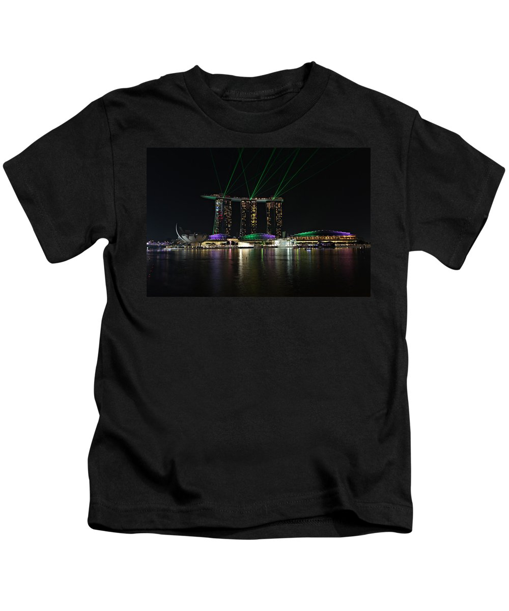 Architecture Kids T-Shirt featuring the photograph Light Show by Paul Fell