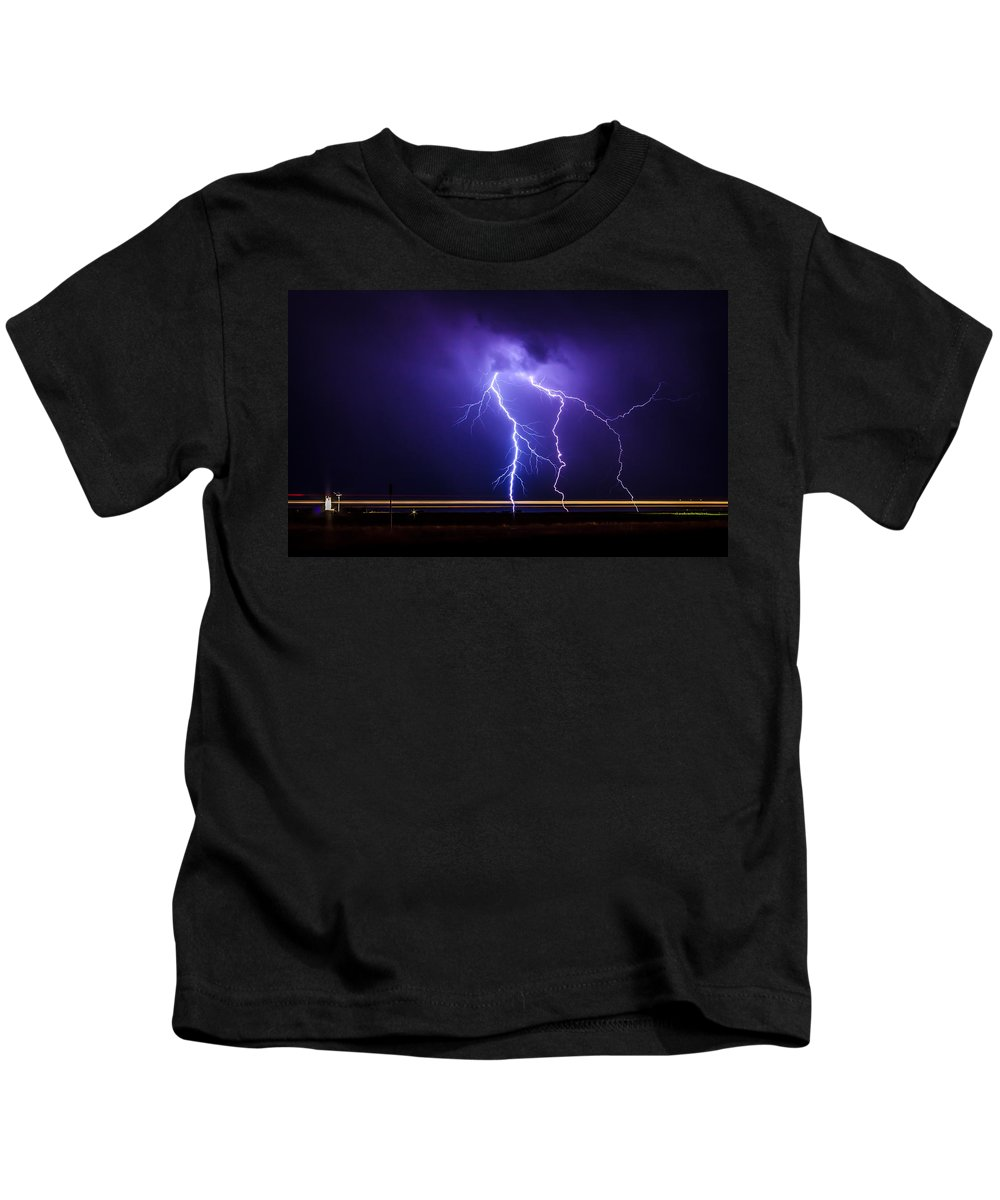 Nature Kids T-Shirt featuring the photograph Lighting1 by John Lee