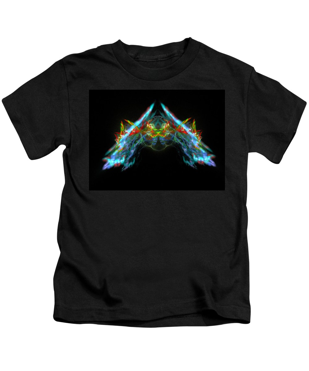 Fractal Kids T-Shirt featuring the painting Lightning Storm by Bruce Nutting