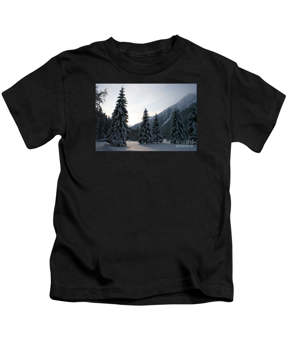 Snow Kids T-Shirt featuring the photograph Like Powdered Sugar by Christiane Schulze Art And Photography