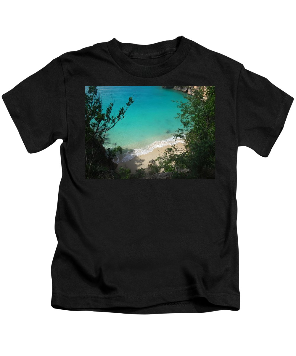 Anguilla Kids T-Shirt featuring the photograph Little Bay Latitude by Kristin Bourne