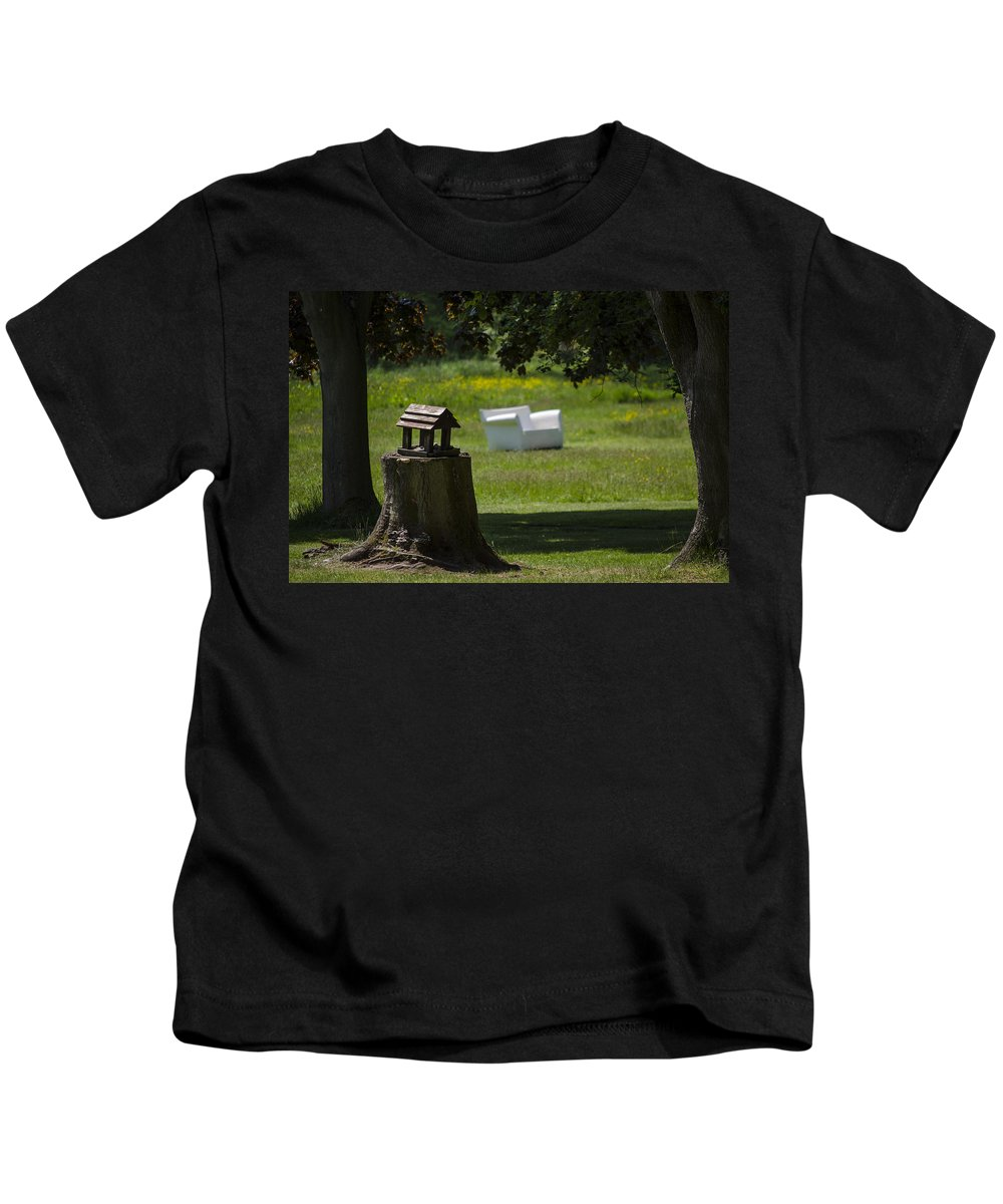 Trees Kids T-Shirt featuring the photograph Little Bird House by Spikey Mouse Photography