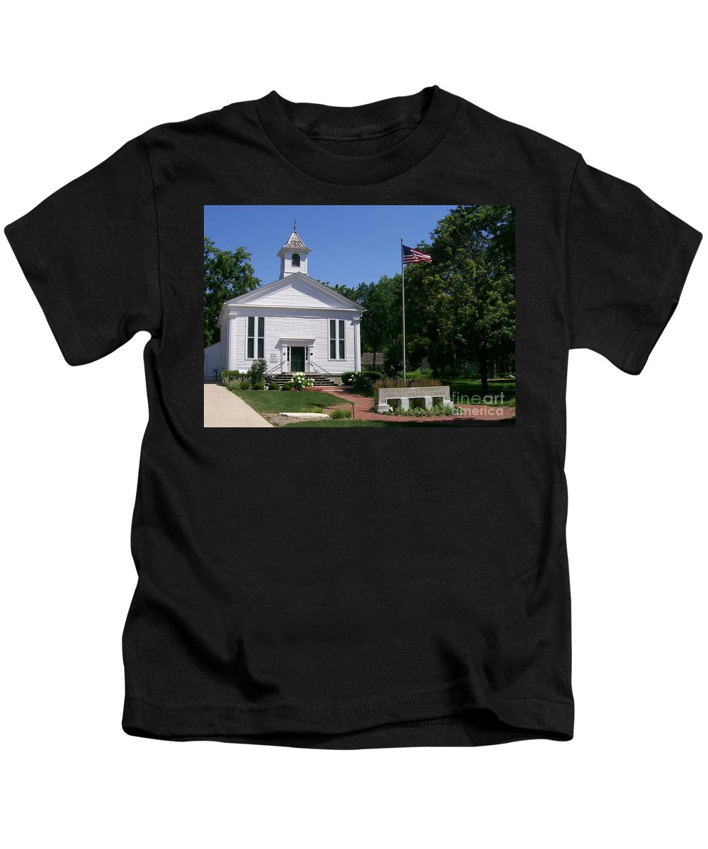 Little Kids T-Shirt featuring the photograph Little White School by Laurie Eve Loftin