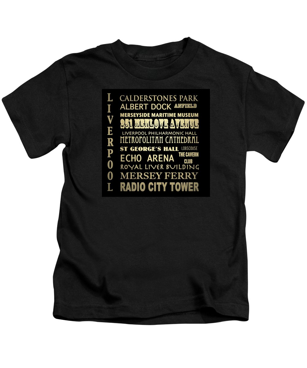 Albert Dock Digital Art Kids T-Shirts