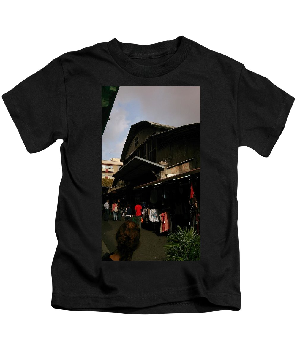 Local Kids T-Shirt featuring the photograph Local Market by Moshe Harboun