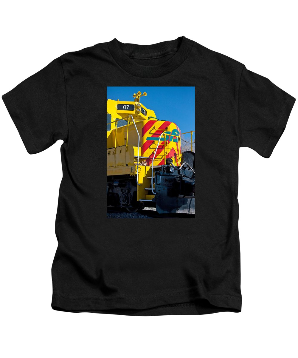 Locomotive Kids T-Shirt featuring the photograph Locomotive Number 07 by Art Block Collections