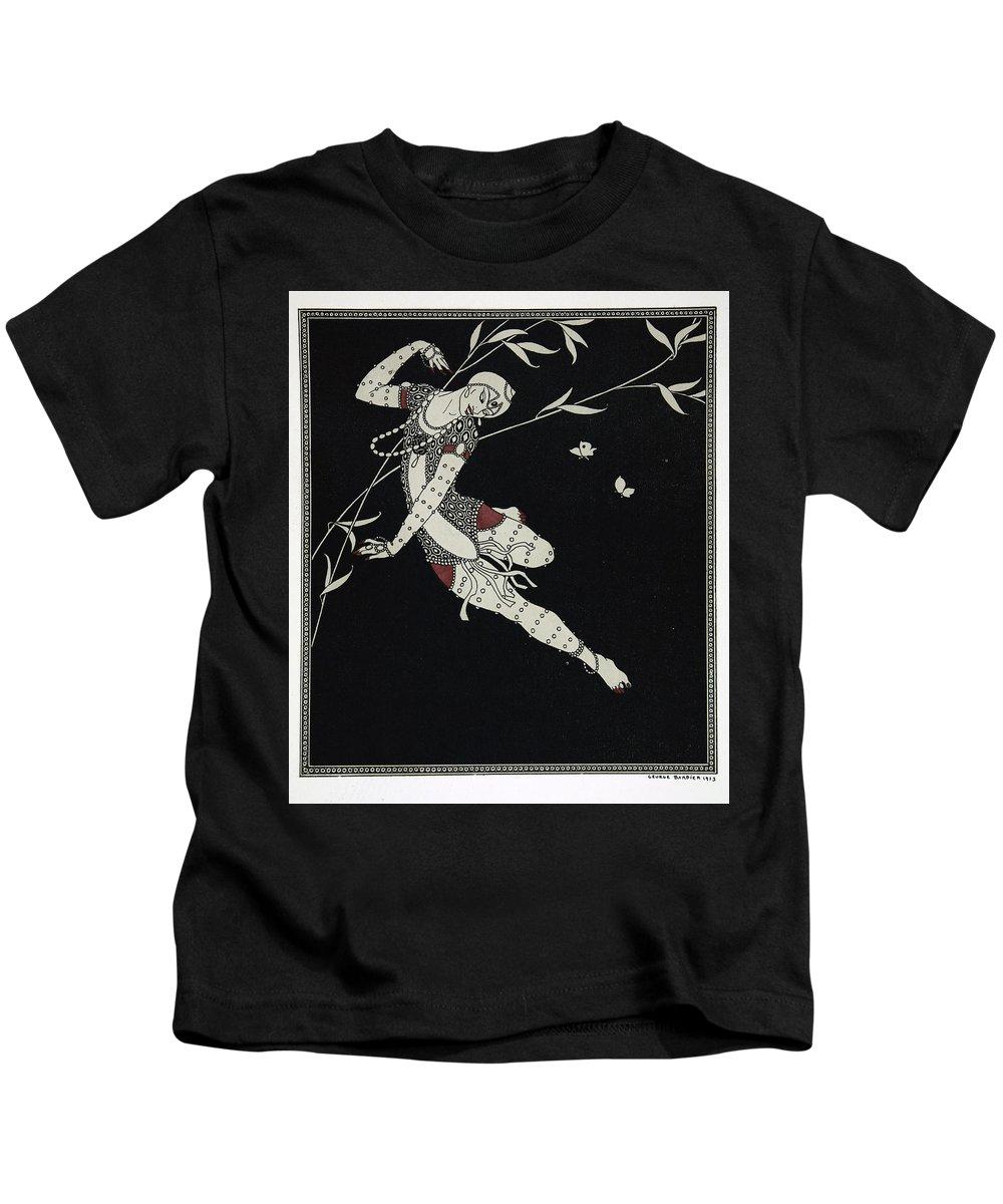 Ballet Kids T-Shirt featuring the painting L'oiseau De Feu by Georges Barbier