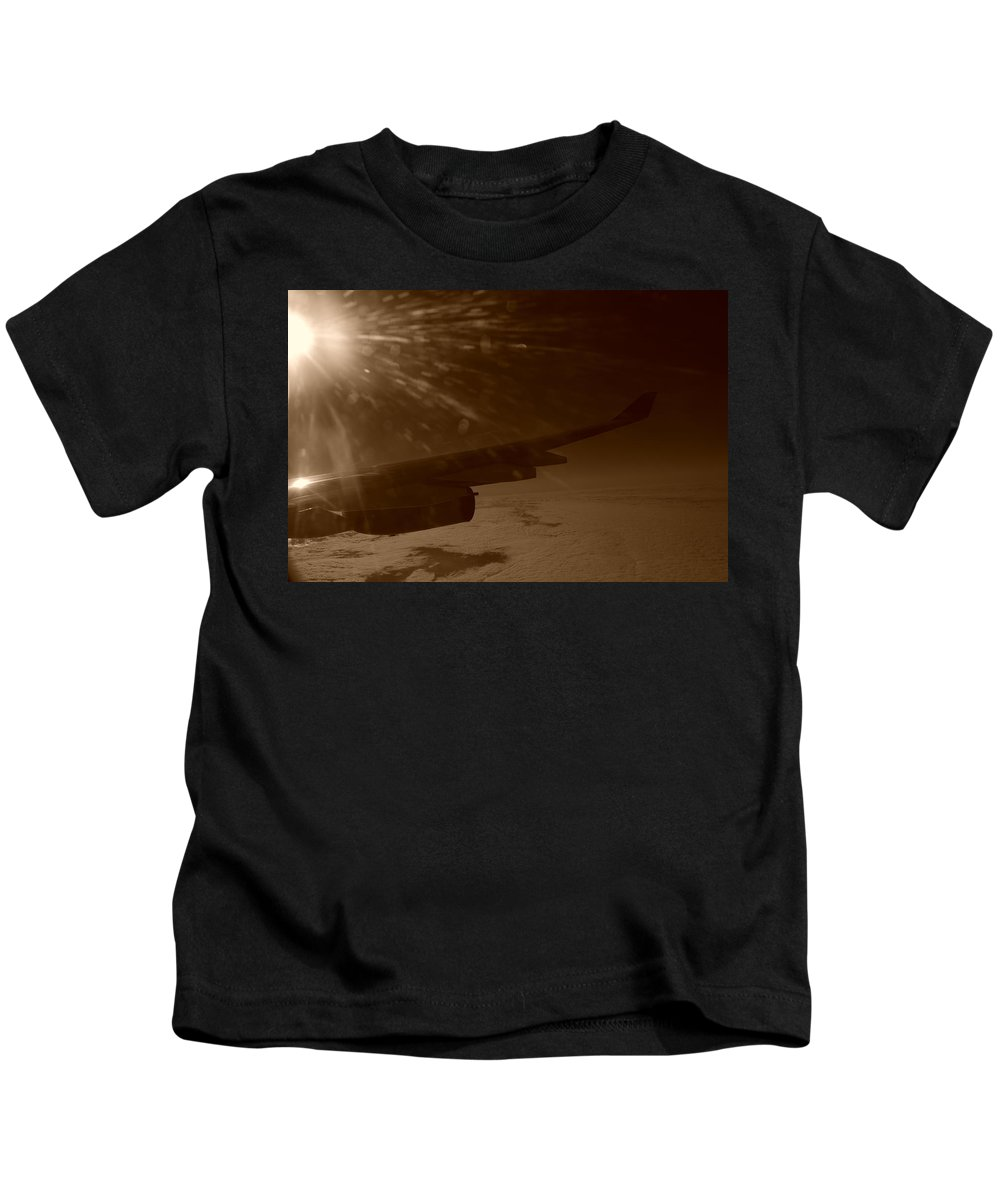 Travel Kids T-Shirt featuring the photograph Long Travels by Miguel Winterpacht