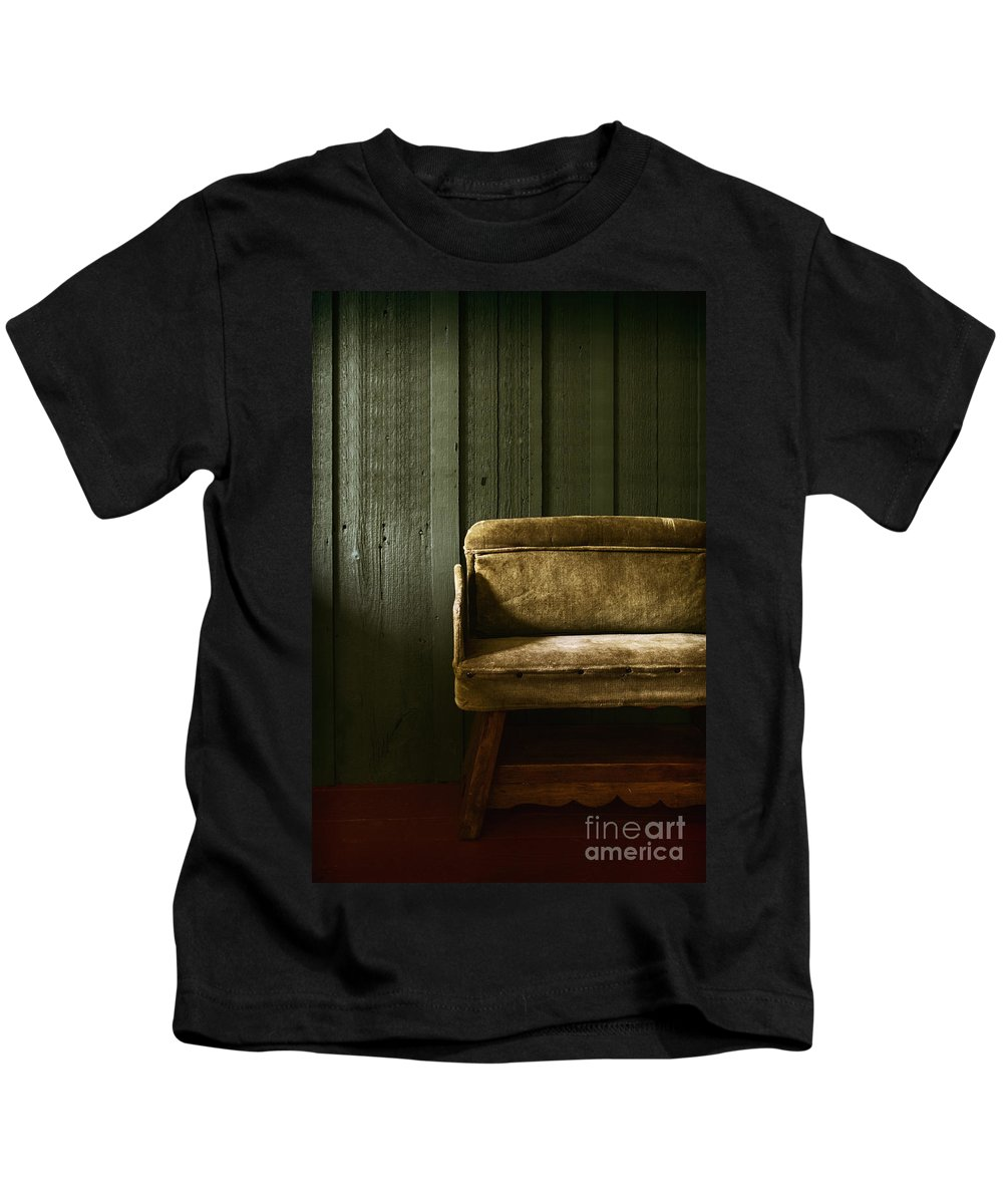 Chair Kids T-Shirt featuring the photograph Long Wait by Margie Hurwich