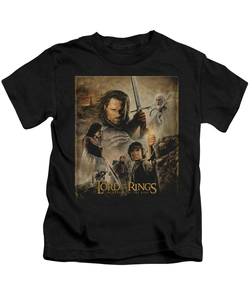 Kids T-Shirt featuring the digital art Lor - Rotk Poster by Brand A