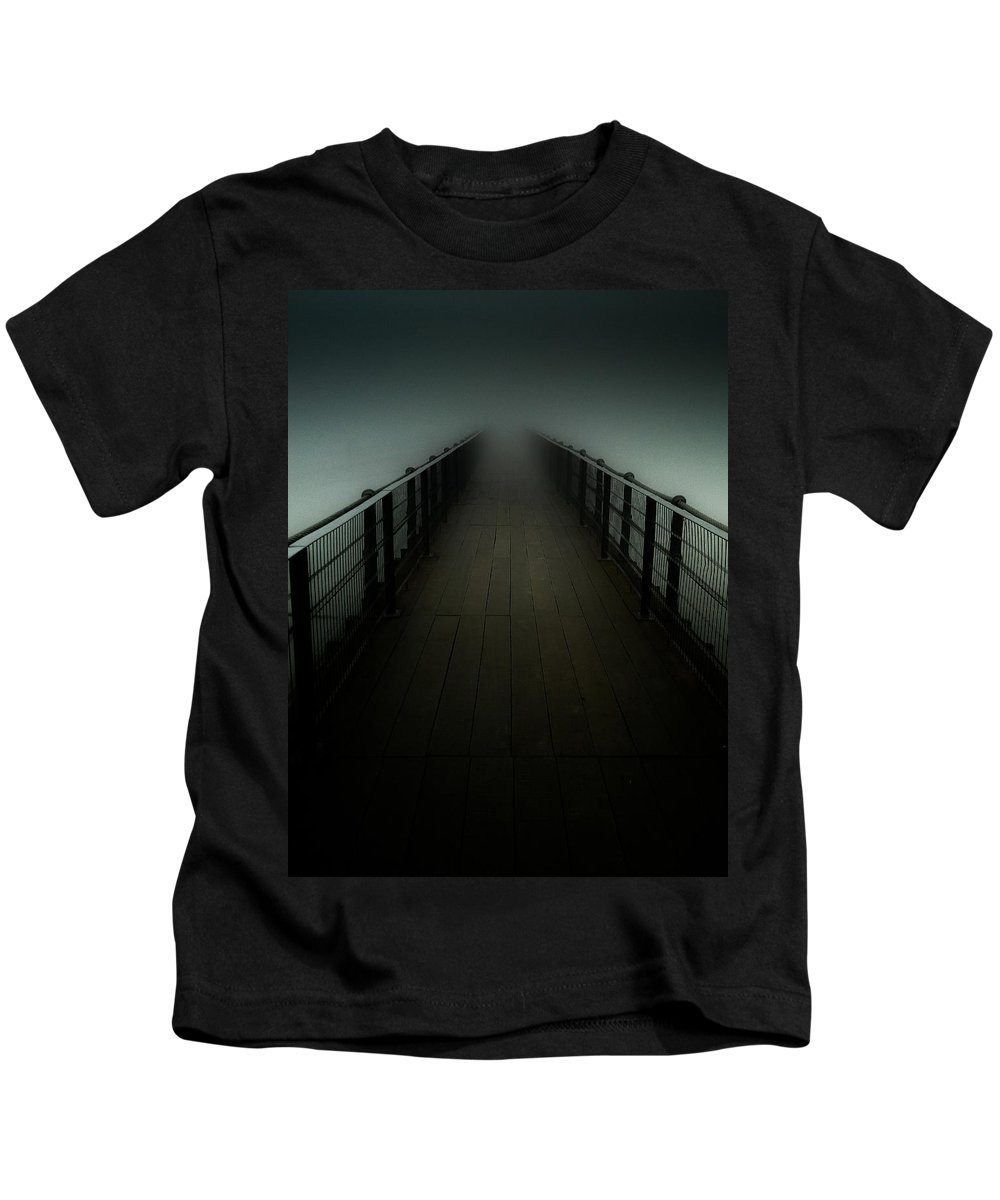 Footbridge Kids T-Shirt featuring the photograph Lost by Fabio Giannini
