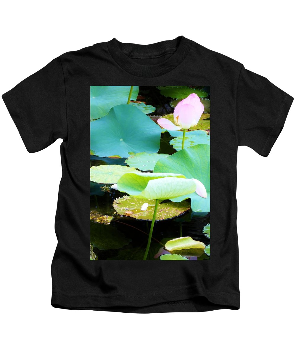 Color Kids T-Shirt featuring the photograph Lotus Lilly Pond by Amar Sheow