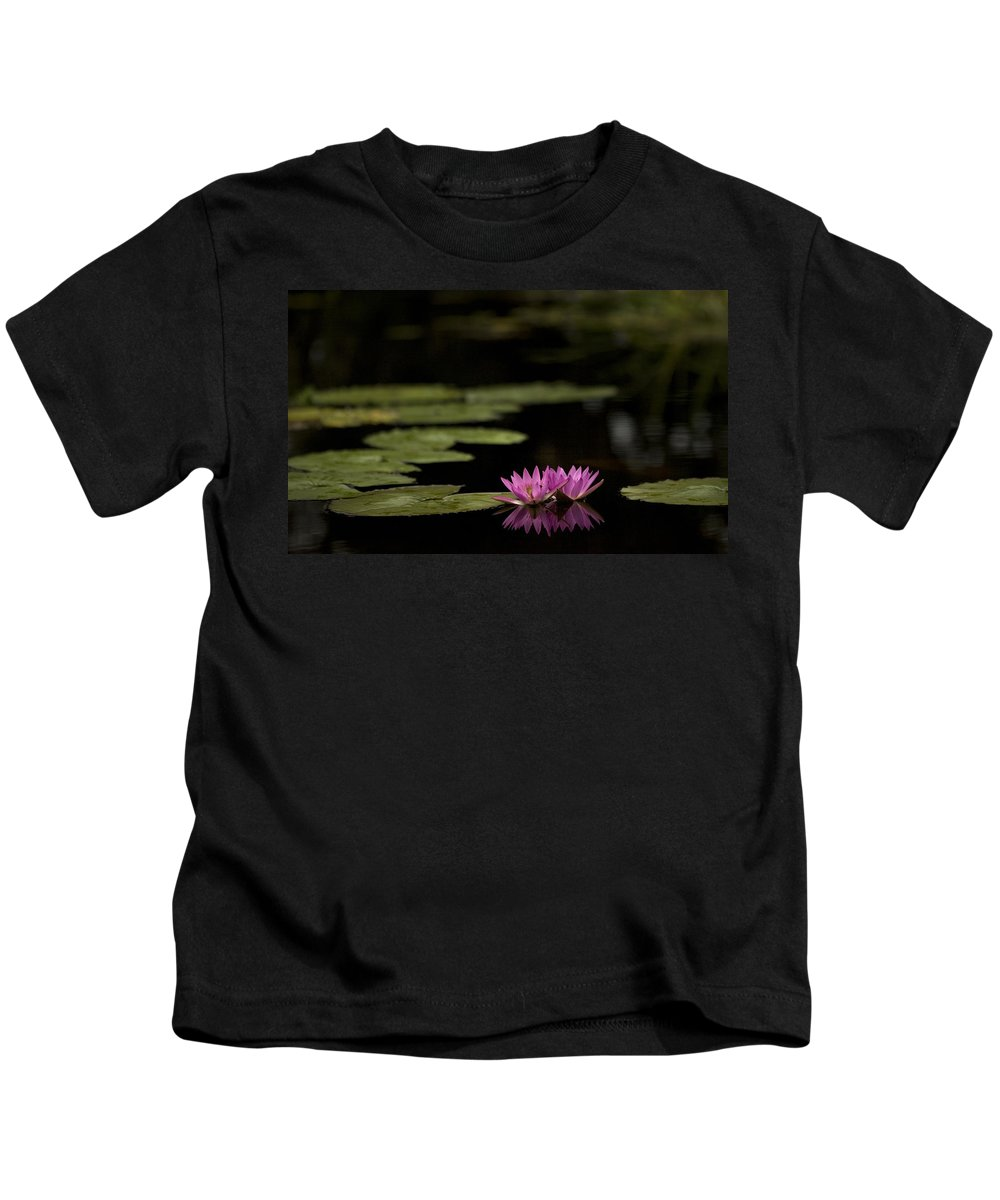Lily Kids T-Shirt featuring the photograph Lotus Reflections by Marilyn Hunt