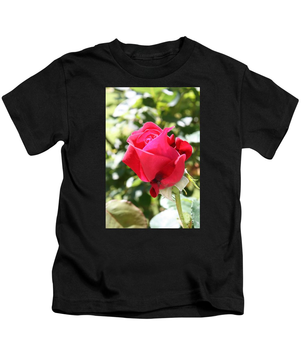 Rose Kids T-Shirt featuring the photograph Love in Red by Christiane Schulze Art And Photography
