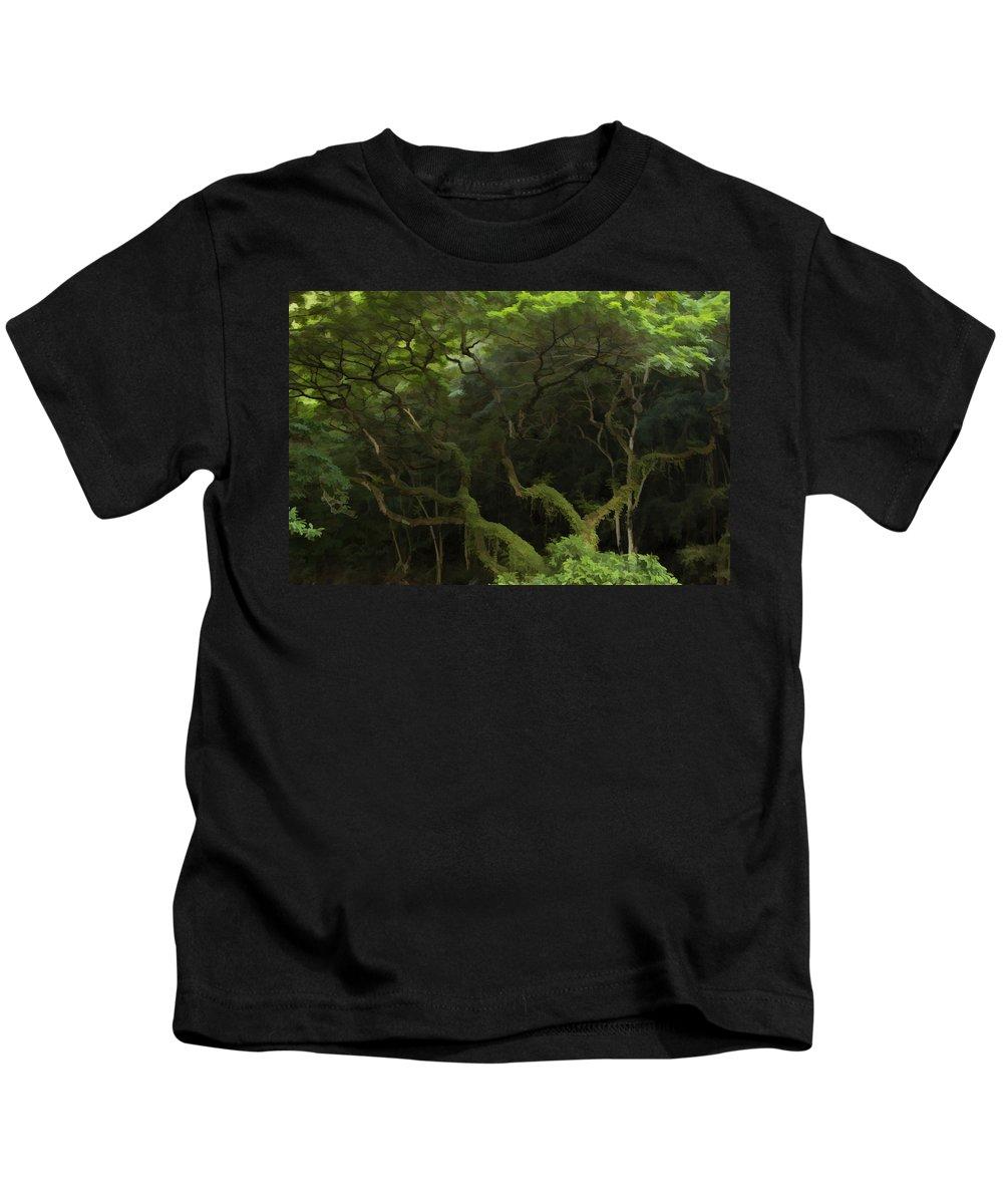 Tree Kids T-Shirt featuring the photograph Lush Green by Douglas Barnard