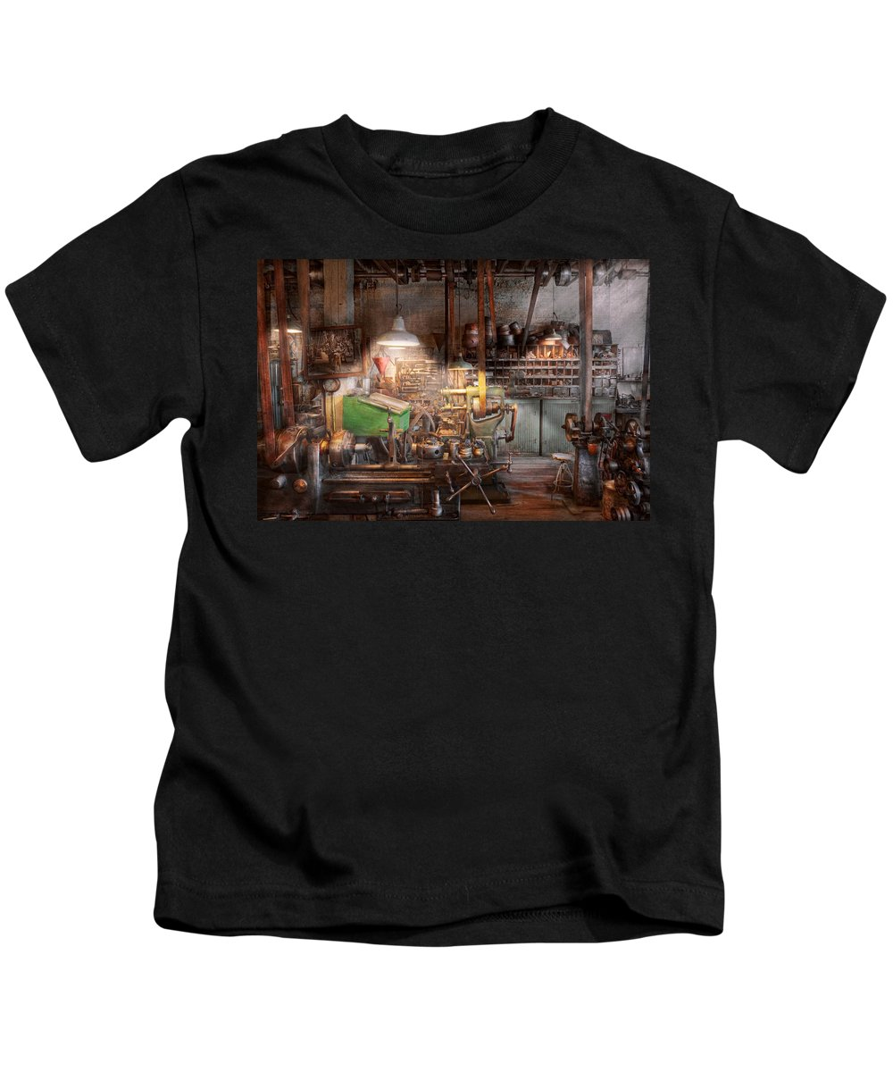 Machinist Kids T-Shirt featuring the photograph Machinist - It All Starts With A Journeyman by Mike Savad
