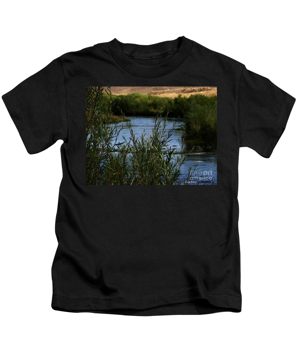 Madison River Kids T-Shirt featuring the photograph Madison River by Greg Patzer