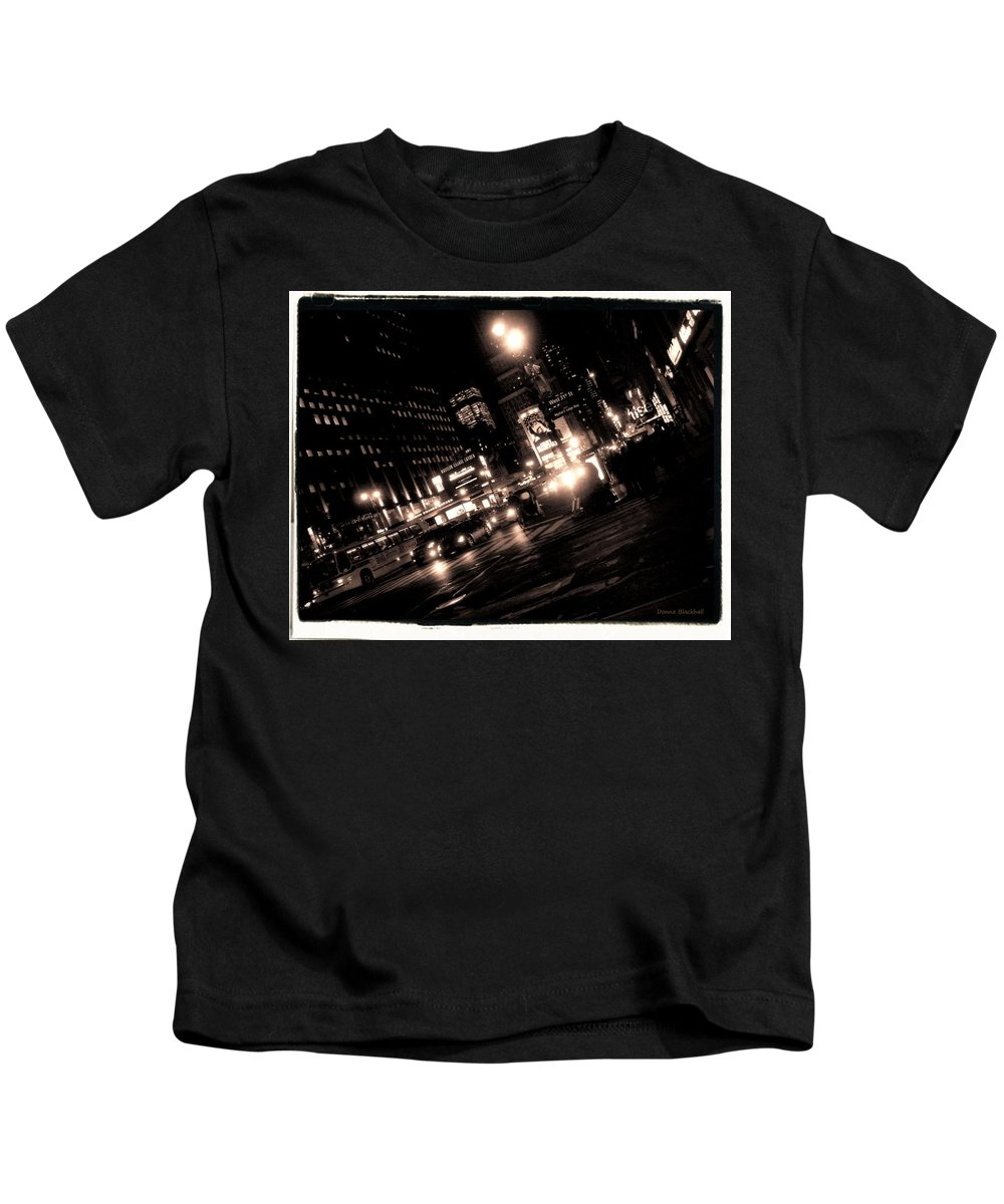 New York Kids T-Shirt featuring the photograph Madison Square Garden by Donna Blackhall