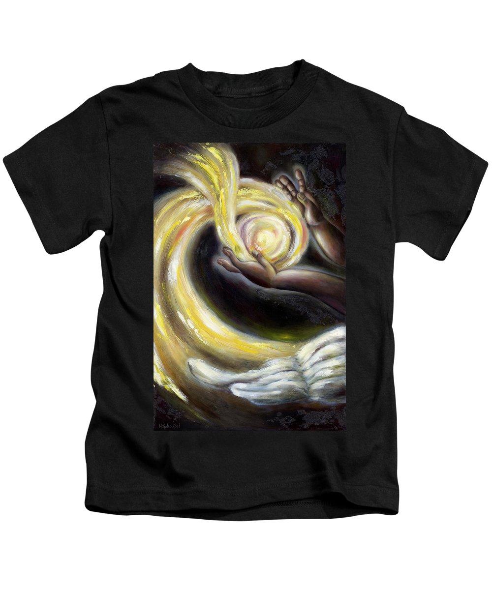 Angel Kids T-Shirt featuring the painting Magic by Hiroko Sakai