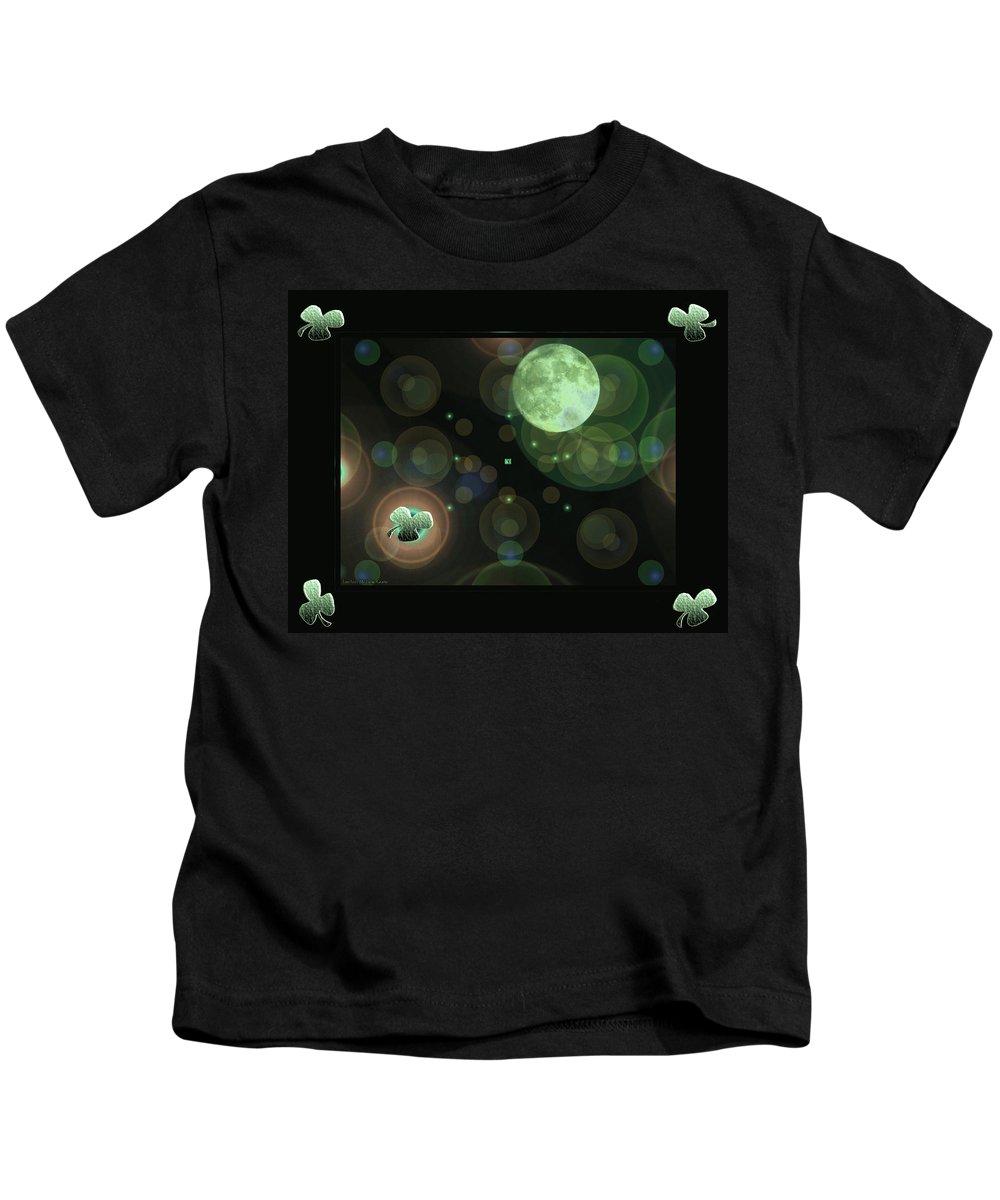 Magical Kids T-Shirt featuring the photograph Magical Moonlight Clover by LeeAnn McLaneGoetz McLaneGoetzStudioLLCcom