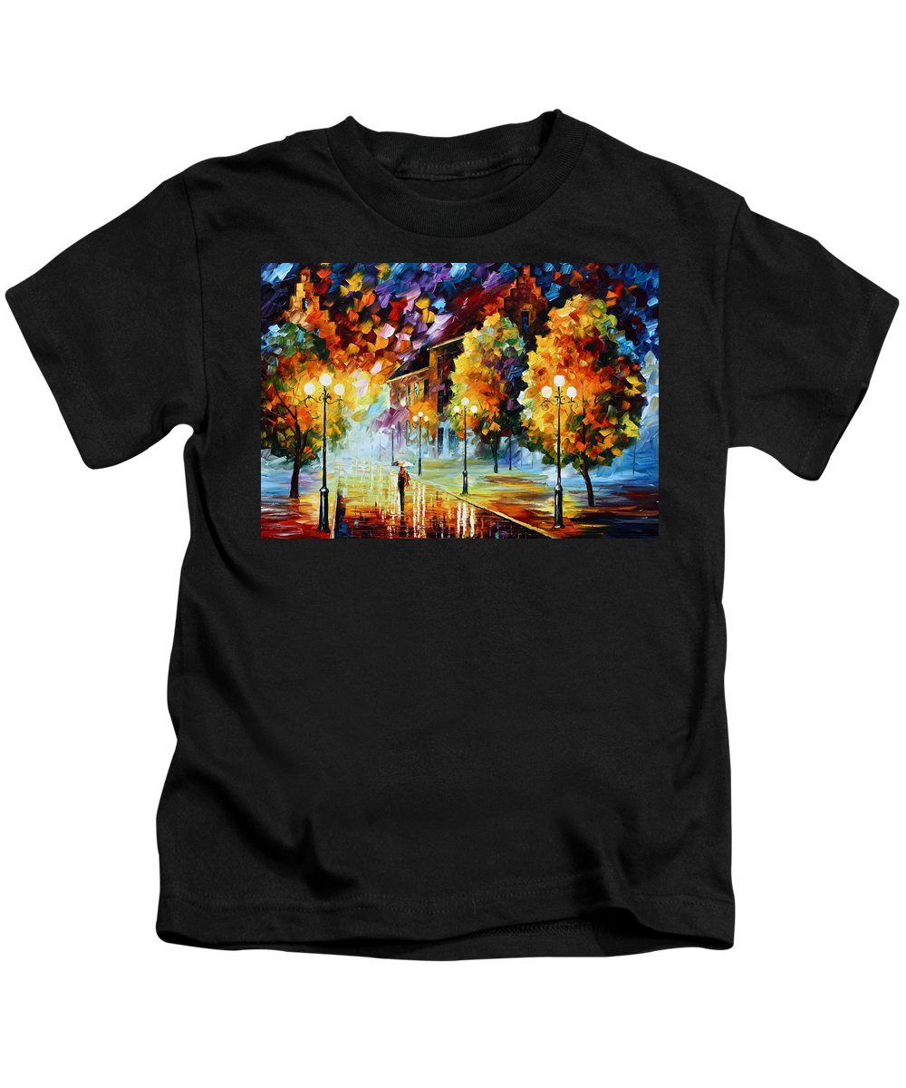 City Kids T-Shirt featuring the painting Magical Time by Leonid Afremov