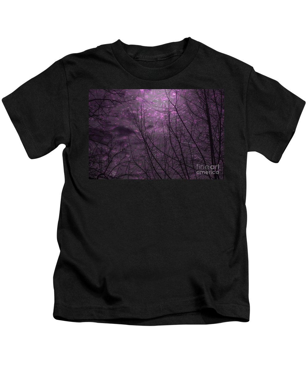 Abstract Kids T-Shirt featuring the photograph Magically Violet Night Sky by Janice Pariza