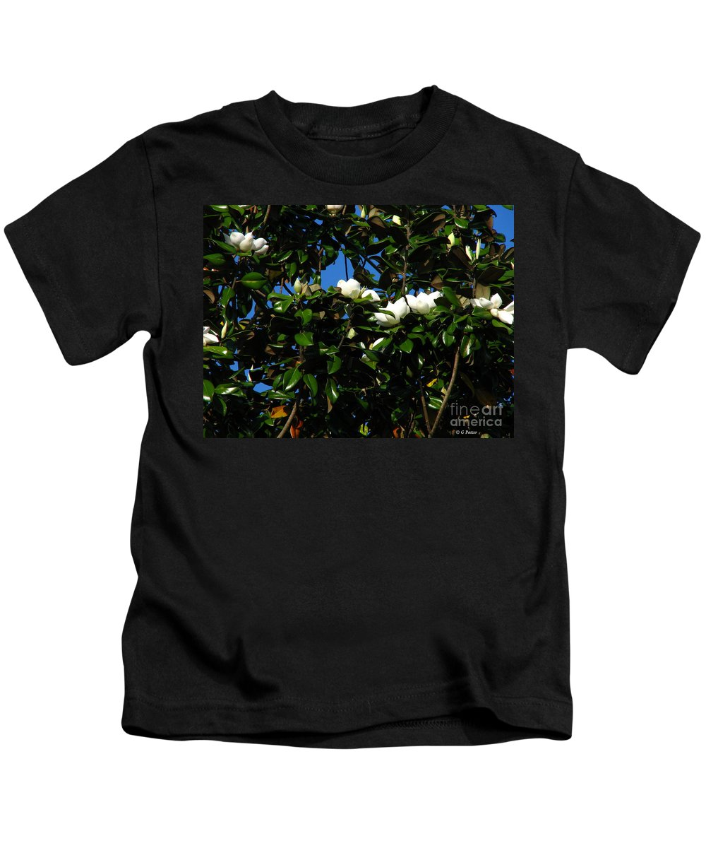 Patzer Kids T-Shirt featuring the photograph Magnolia Setting by Greg Patzer