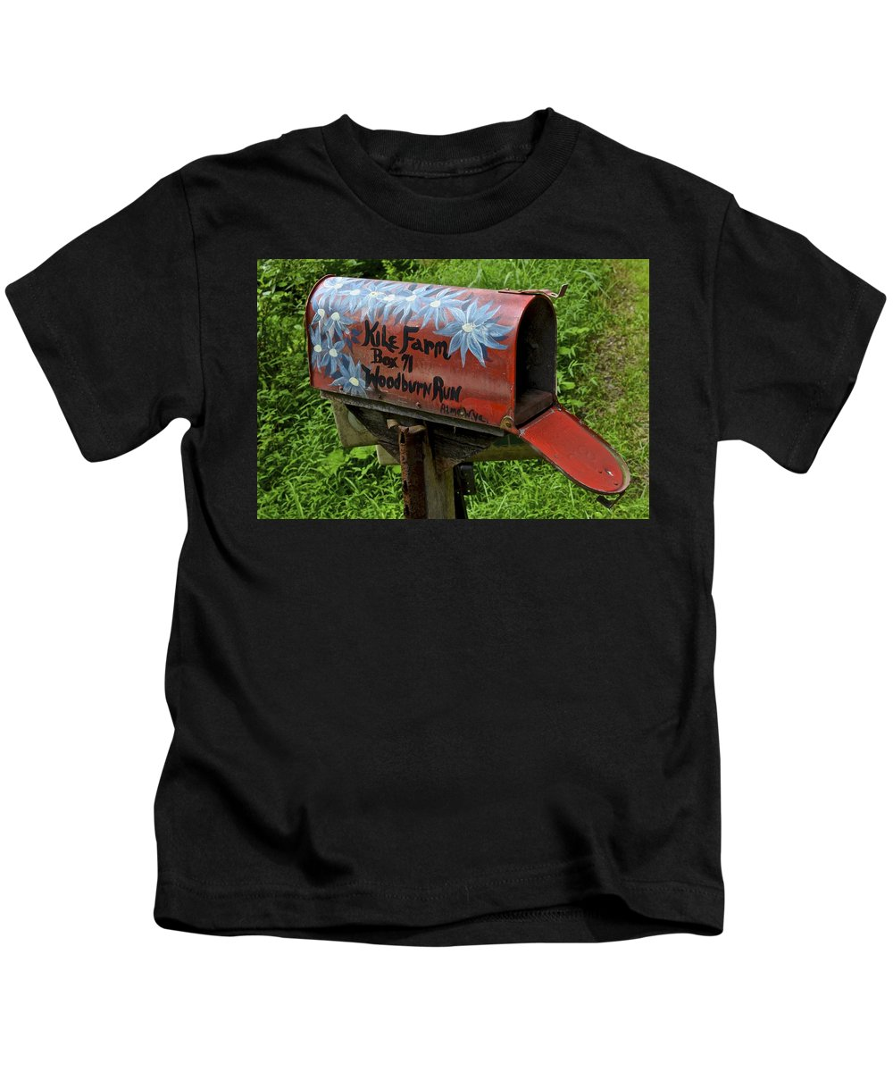 Family Kids T-Shirt featuring the photograph Mailbox by Frozen in Time Fine Art Photography