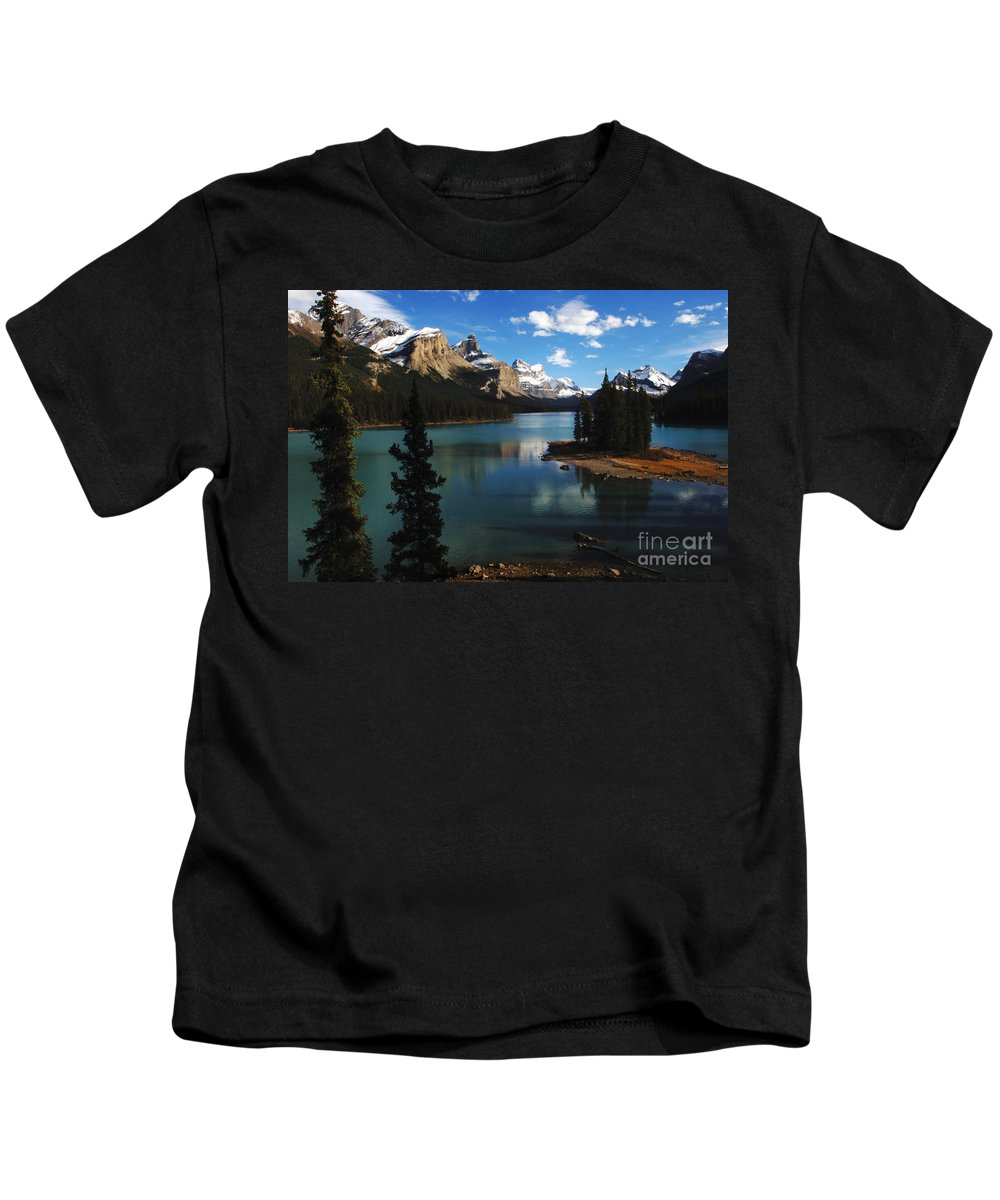Jasper Kids T-Shirt featuring the photograph Maligne Lake Beauty Of The Canadian Rocky Mountains by Bob Christopher