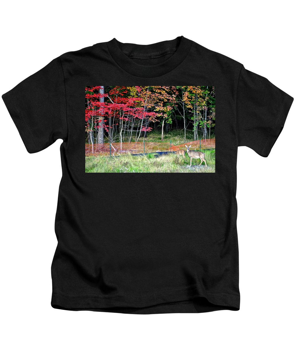 Nature Kids T-Shirt featuring the photograph Man Ruins Nature by Frozen in Time Fine Art Photography