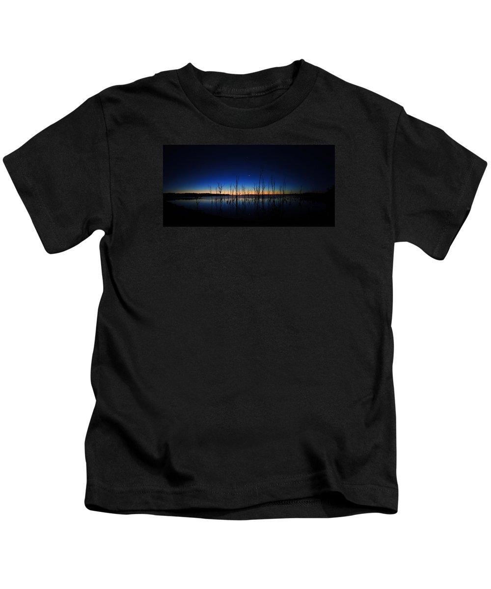 Manasquan Reservoir Kids T-Shirt featuring the photograph Manasquan Reservoir At Dawn by Raymond Salani III