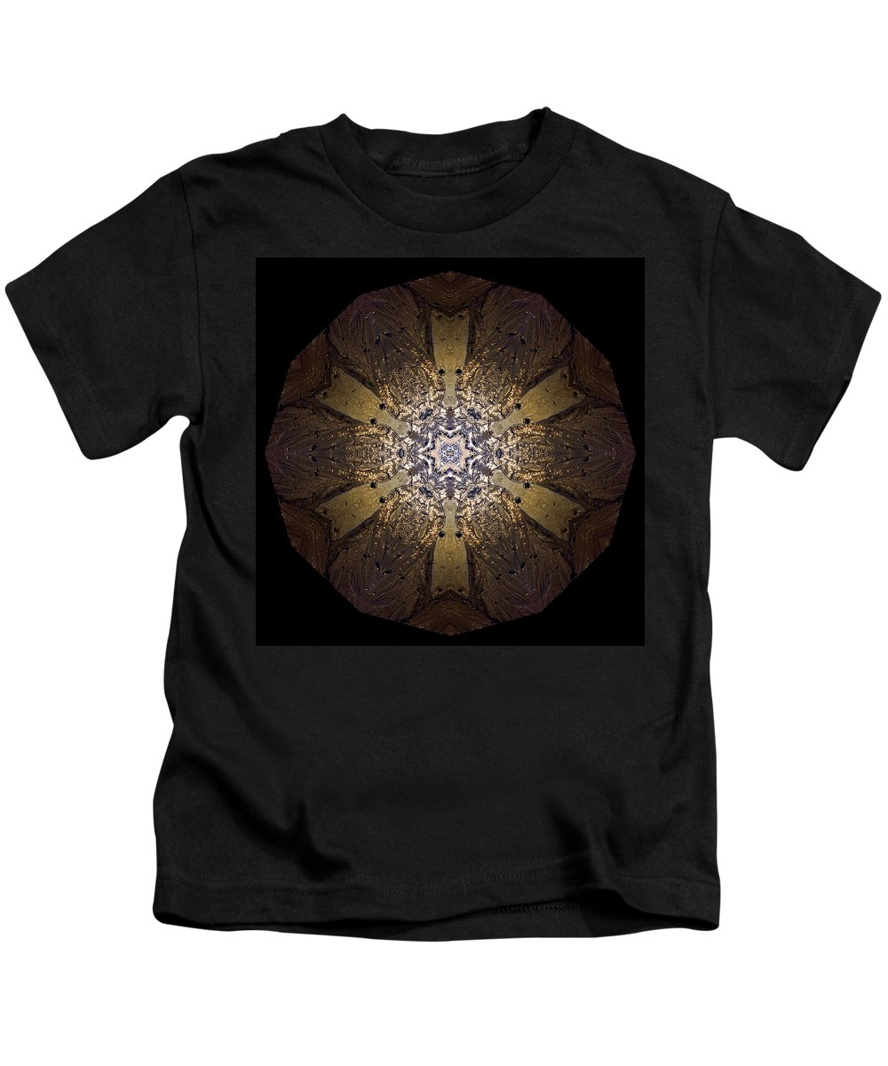 Mandala Kids T-Shirt featuring the photograph Mandala Sand Dollar At Wells by Nancy Griswold