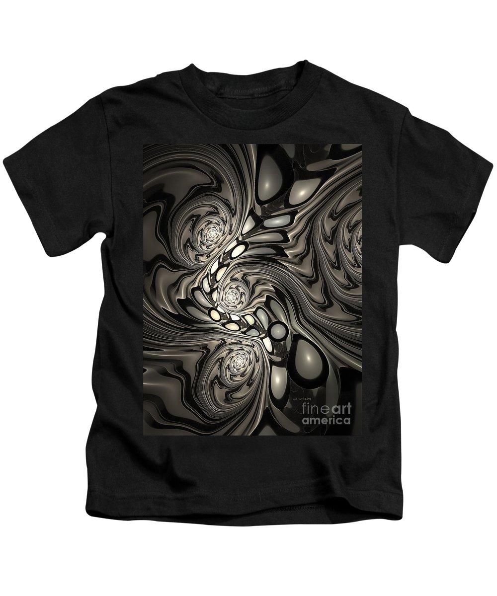 Figure Kids T-Shirt featuring the digital art Marucii 257-06-2013 Abstraction by Marek Lutek